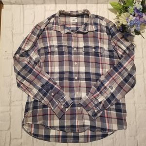 Old Navy XL Shirt Plaid Buttoned Long Sleeve Top